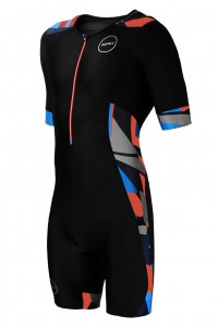 Strój triathlonowy ZONE3 Activate+ Short Sleeve Midnight Camo męski