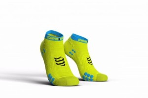 Skarpetki do biegania COMPRESSPORT V3 Run Lo - fluo żółte