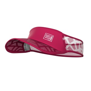 Daszek COMPRESSPORT Spiderweb Ultralight Visor - różowy