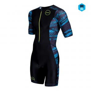Strój triathlonowy ZONE3 Activate+ Short Sleeve Stealth Speed męski