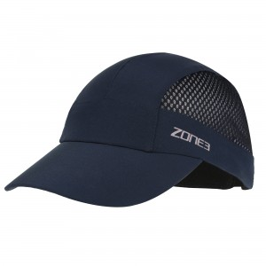 Czapka do biegania ZONE3 Lightweigth Mesh Triathlon and Running Baseball Cap - granatowa