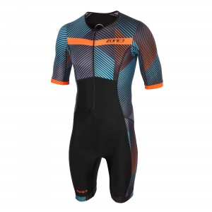 Strój triathlonowy ZONE3 Activate+ Short Sleeve Momentum męski