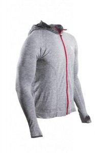 Bluza biegowa COMPRESSPORT 3D Thermo Seamless Hoodie szara