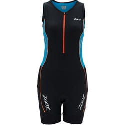 Strój triathlonowy ZOOT Performance Tri Racesuit damski splash/black